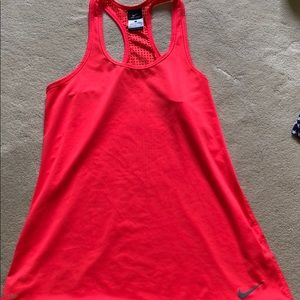Nike Dry Fit Racerback Tank Fluorescent Red L